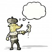 pic of french beret  - cartoon cool french dog - JPG