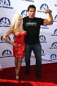 LOS ANGELES - OCT 14:  Courtney Stodden, Lou Ferrigno at the Jeffrey Foundation Building Renaming Celebration at Jeffrey Foundation Main Building on October 14, 2014 in Los Angeles, CA