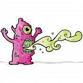 gross monster cartoon