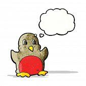 retro cartoon robin