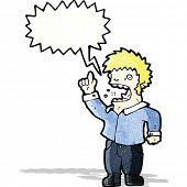 shouting man cartoon