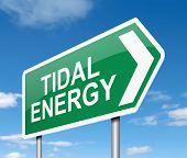 Tidal Energy Concept.