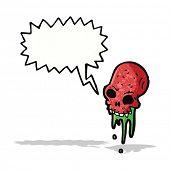 gross cartoon skull