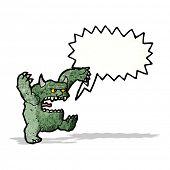 roaring monster cartoon