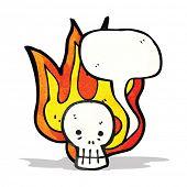 spooky skull cartoon