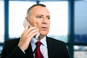 Portrait of a mature businessman talking on the phone