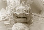 Lion Guardian Statue Closeup