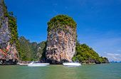 image of james bond island  - View of the James Bond Island Thailand tropical landscape - JPG