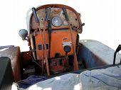 Dashboard Old Italian Crawler Tractor