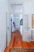 image of master bedroom  - Vintage big master bedroom with wooden floor - JPG
