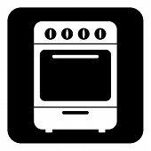 Stove Symbol Button
