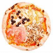 Retro Look Four Seasons Pizza