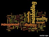 Vector eps concept or conceptual abstract success or teamwork marketing word cloud or wordcloud isol