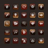 A Set Of Transparent Icons In Coffee And Tea Colors