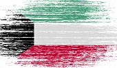 pic of kuwait  - Flag of Kuwait with old texture - JPG