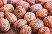 Walnuts On Cutting Board