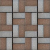 Rectangular Paving Slabs Laid as Decorative. Seamless Texture.