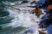 Water, Waves And Rocks