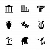 Vector greece icon set