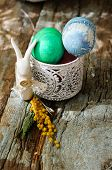 pic of easter eggs bunny  - Easter time spring flowers easter eggs and easter bunny - JPG
