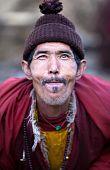 Portrait Of Village Buddhist Lama