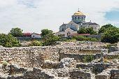 image of crimea  - view of Vladimir Cathedral in Tauric Chersonesos Sevastopol city Crimea - JPG