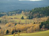 colors of autumn landscape, southern Bohemia, Czech Republic