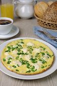 Omelet With Feta Cheese And Green Onions