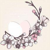 Easter card or invitation design