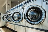 pic of washing-machine  - line of laundry machine in shop during business time - JPG