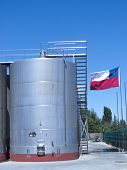 foto of fermentation  - Some wine metallic fermentation tanks - JPG