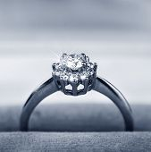 Diamond Ring In Gift Box