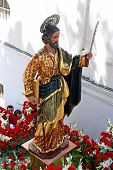 Saint Bernard statue, Marbella.