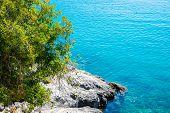 Crystal Clear Mediterranean Sea With Rocky Beach