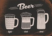 Beer set. Vintage sketch. Vector old paper texture food and drink