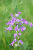 Low poly bluebells