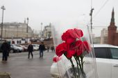 People Bring Flowers To The Site Of The Murder Of Politician Boris Nemtsov