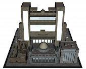 City block - 3D render