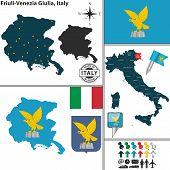 Map Of Friuli-venezia Giulia, Italy