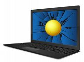 Cracked Laptop Handball
