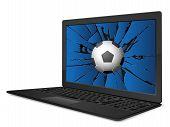 Cracked Laptop Soccer