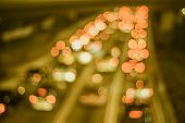 Abstract light bokeh on the road