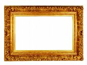 picture of carving  - Gold style carved photo frame with carved details - JPG