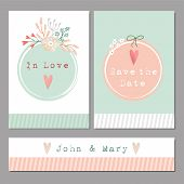 Set Of Floral Romantic Wedding,baby Shower,birthday Cards