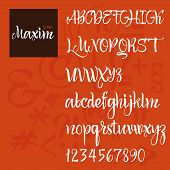 Modern Vector Alphabet. ABC Painted Letters. Modern Brushed Lettering. Painted Alphabet