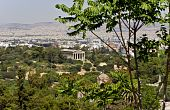 Ancient Agora of Athens, Greece (view from Plaka area)