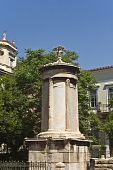 Lysikrates monument and Tripodon square at Plaka, Athens, Greece