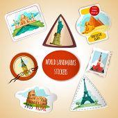 World Landmarks Stickers
