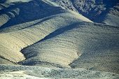 picture of atlas  - valley in africa morocco the atlas dry mountain ground isolated hill - JPG