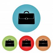 Icon Briefcase, Vector Illustration.